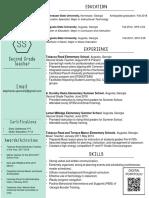 resume spring 2017 for portfolio