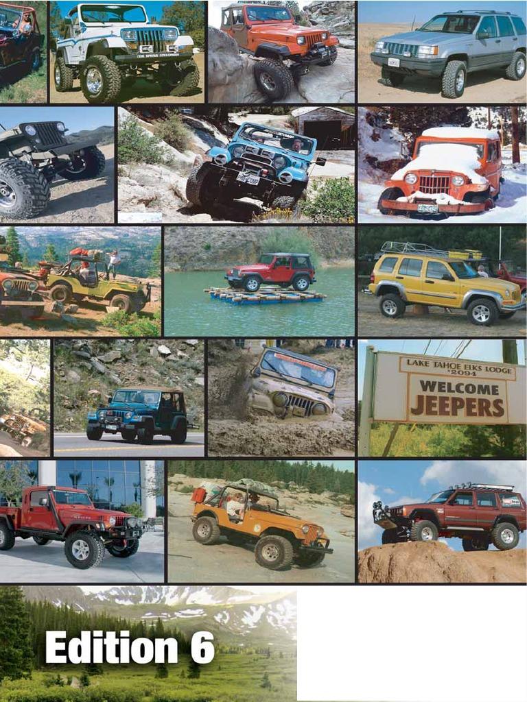 Jeep Wrangler TJ aletines frase 4 piezas ancho original 96-06
