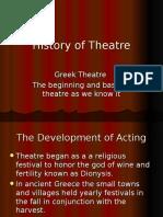 History of Theatre - Greek