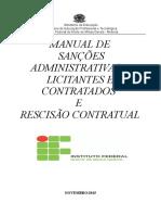 Manual de Gestão de Sanções Administrativas