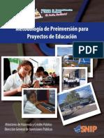 MetodologiaEducacion PROYECTO INVERCION