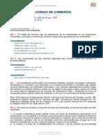 Código de Comercio ecuatoriano - Octubre 2015