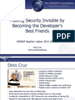 OWASP Brazil - Making Security Invisible by Becoming the Developer's Best Friends v2
