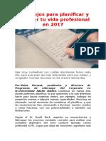 3 Consejos Para Planificar y Priorizar Tu Vida Profesional en 2017