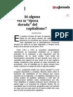 La Jornada_ ¿Existió alguna vez la época dorada del capitalismo?