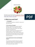 Anima Nutrition Part One Lesson Summary