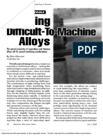 Turning Difficult to Machine Alloys