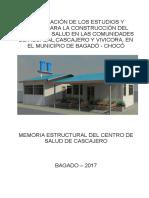 Memoria de Calculo Estructural Centro de Salud de Cascajero
