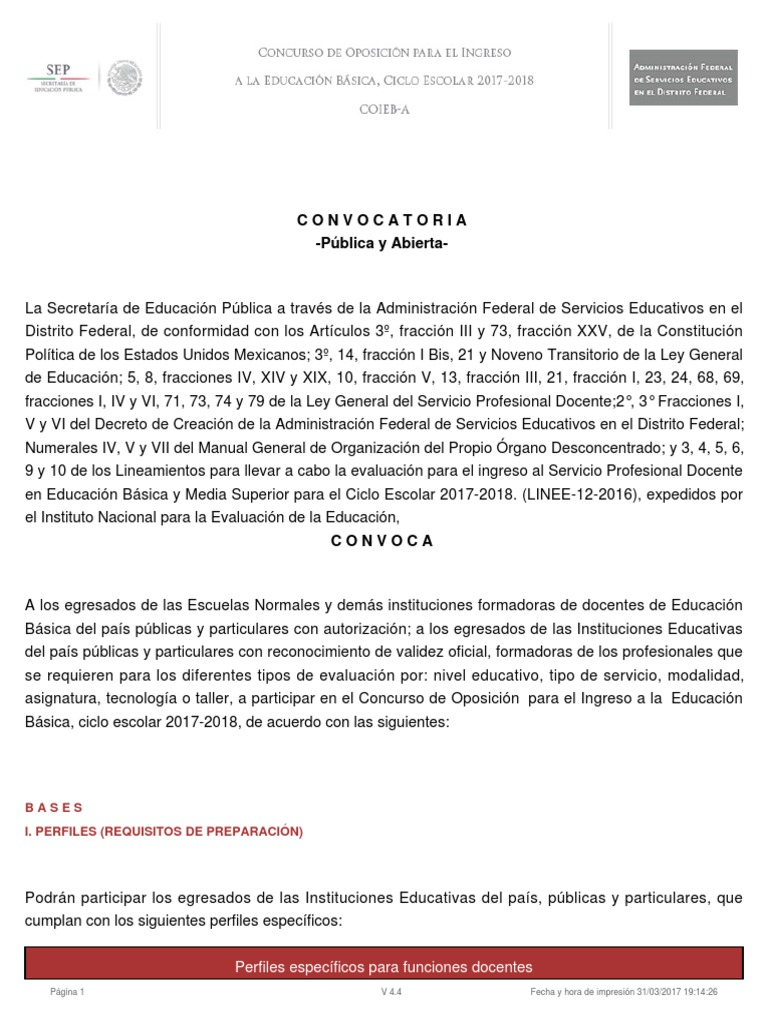 Concurso de oposicion docente ciudad de mexico for Concurso docentes