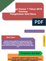 Permendagri 1 Th 2016 Pengelolaan Aset Desa