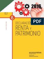 Declaración de la Renta y el Patrimonio 2016