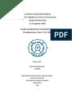 Bachtiar Rizaldy - Laporan PKL PT LCTN Agustus 2016