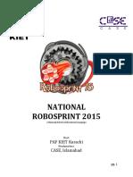 Robo Sprint 2015 Rulebook