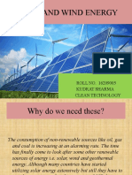 Solar and Wind Energy Me16209005