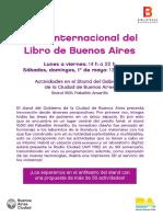 Programación Stand de La Ciudad_ Feria Del Libro
