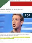 Facebook Algorithms 'Will Identify Terrorists' - BBC News