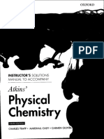 Peter Atkins Physical Chemistry Solutions 9th Edition