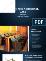 how to win a criminal case
