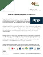 CAS Response to Carriage Company Study Endorsement