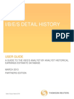 IBES Detail History User Guide - March 2013