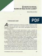 O Negro No Brasil. Problema de Raça Ou de Classe - Maria Nilza Da Silva