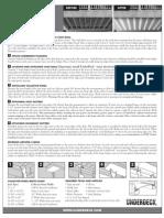 Installation instructions for Underdecking