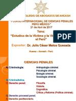 Ponencia Victimología en El Perú - CAA - 21-04-2017
