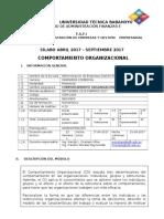 Sílabo Comport Organizacional
