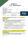 Journey 9 1s & 2s Teaching Plan