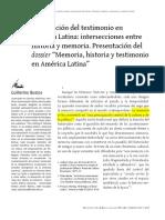 Bustos G_La Irrupción Del Matrimonio en a L Intersecciones Entre Memoria e Historia