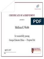 georgia educator ethics program exit certificate of achievement