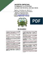 Tercera Gaceta Municipal 2014