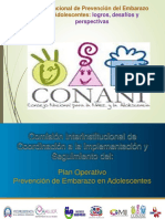 Plan Operativo Prevención de Embarazo en Adolescentes