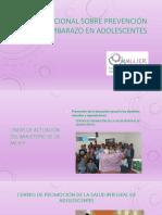 Foro Nacional sobre Prevención del Embarazo en Adolescentes - Líneas de Actuación del Ministerio de la Mujer