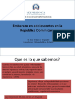 Embarazo en adolescentes en la Republica Dominicana