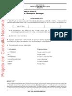 Ergonomia ─ Movimentação Manual  - PROJETO ABNT NBR ISO 11228-1