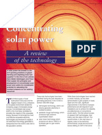 Concentrating Solar Power Part 1
