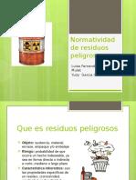 Normatividad de Residuos Peligrosos