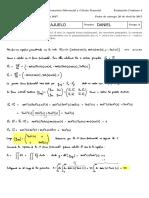 Problema de Geometria Diferencial. Primera y segunda forma fundamental