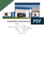 Ingenieria Agroindustrial Trabajo de Ecologia