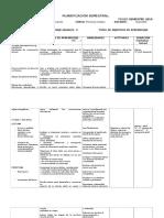 Planificación Semestral Primero Medio 2016