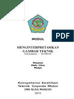 Modul Gambar Teknik Dasar Untuk SMK