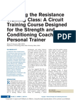 Teaching the Resistance Training Class a Circuit.