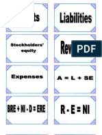Basic Accounting terms card deck