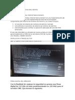 Reporte Configuracion DNS Centos