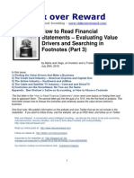 How to Read Financial Statements (Footnotes and Value Drivers) - Part 3_July 2010