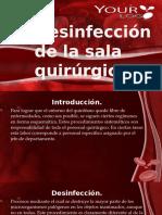 Desinfección de La Sala Quirúrgica