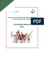 Planificador-Calendario Academico 2017 Inglés CONARE