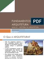 Aula01 Hist Da Arquitetura