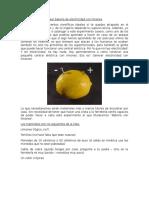 Crear Batería de Electricidad Con Limones